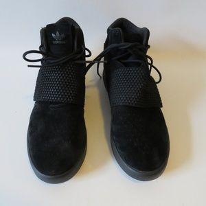 PUMA MALE/MALE BLACK SUEDE MID-TOP SNEAKERS SZ 10